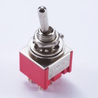 WSC Partsland M203 mini Switch on-off-on 6 pin, chrom Product Image