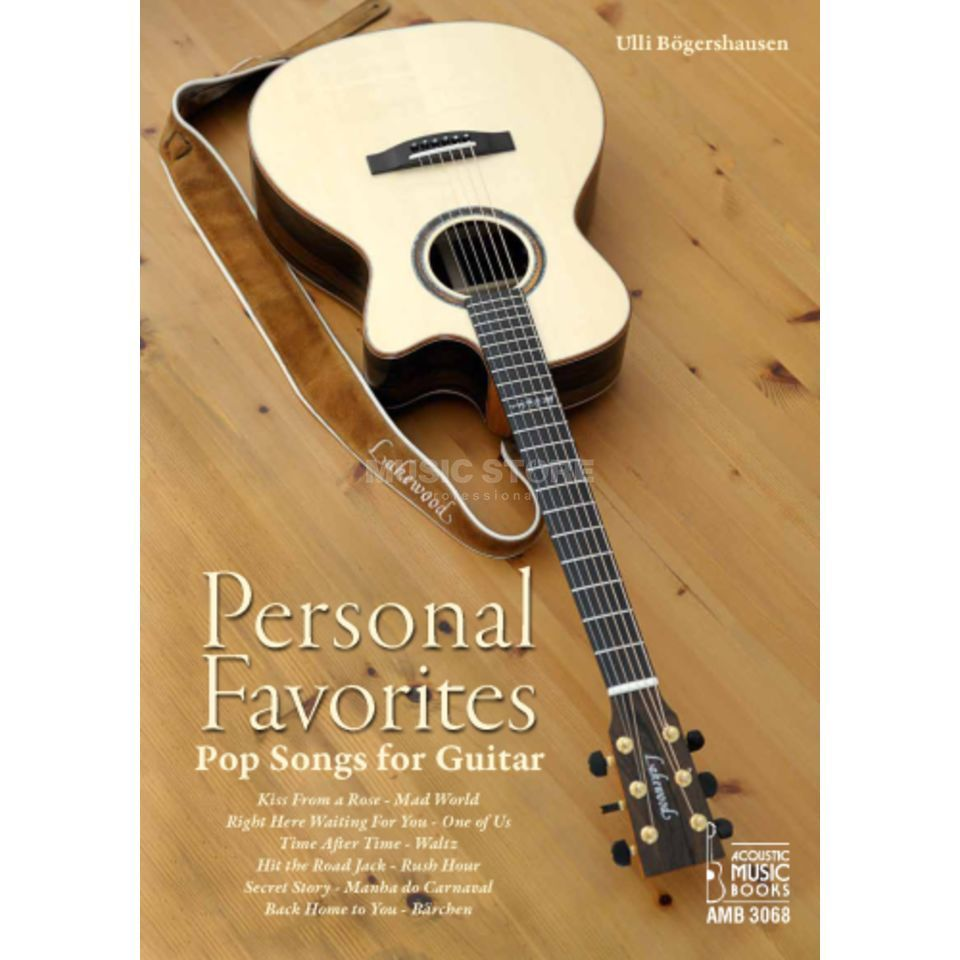 Acoustic Music Books Personal Favorites - Pop Songs for Guitar Produktbillede