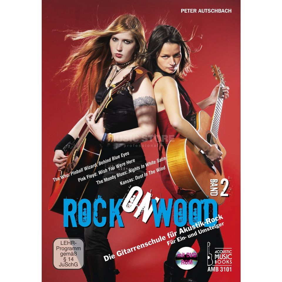 Acoustic Music Books Rock On Wood 2, Gitarrenschule Peter Autschbach, DVD/ROM Изображение товара
