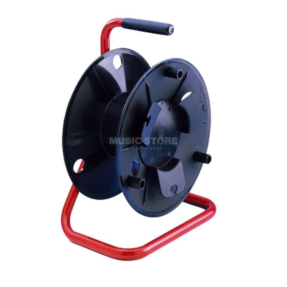 Adam Hall 70220 - Kabeltrommel klein Kunststoff, roter Rahmen