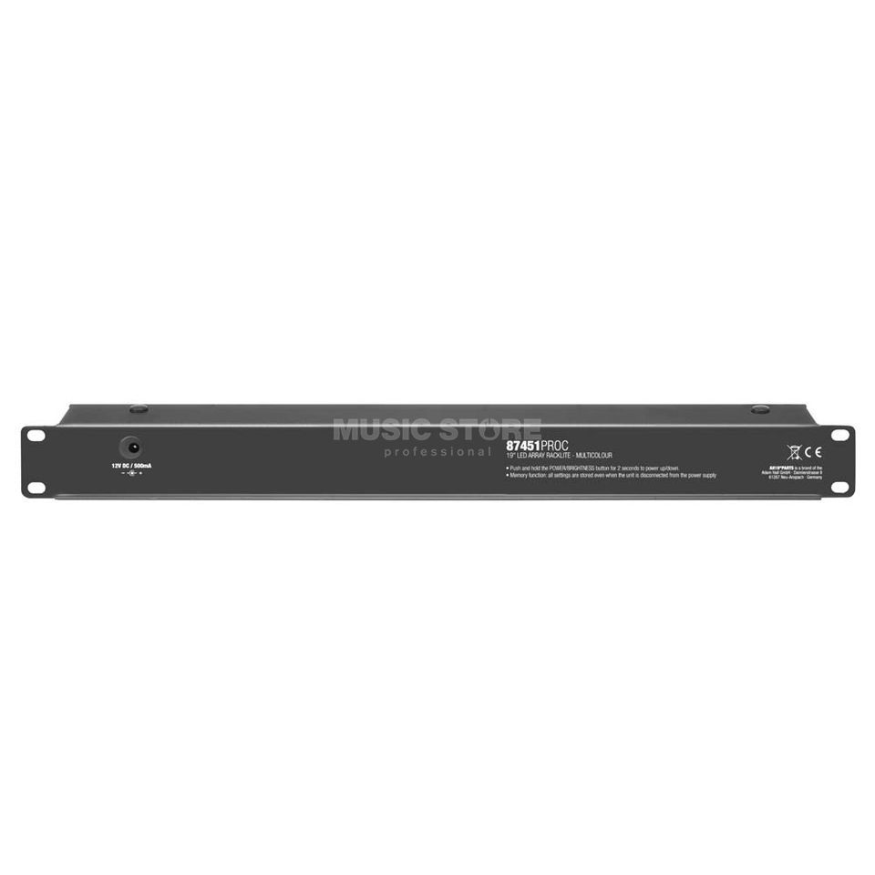 "Adam Hall 87451PROC 19"" Rack Light 1HU m multicolor Produktbillede"