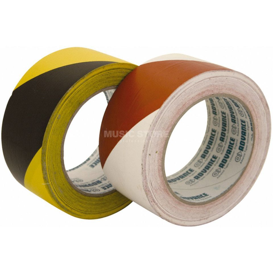 Advance AT 8 Floor Marking Tape black/yellow, 33m, 50mm Produktbillede