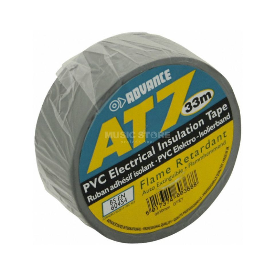 Advance AT7 PVC Insulation Tape, grey 33m, 19mm Produktbillede