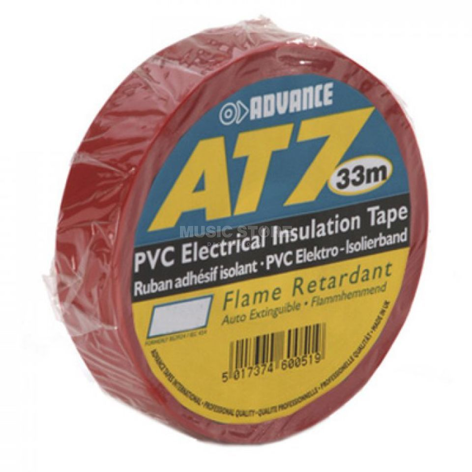 Advance AT7 PVC Insulation Tape, red 33m, 19mm Produktbillede