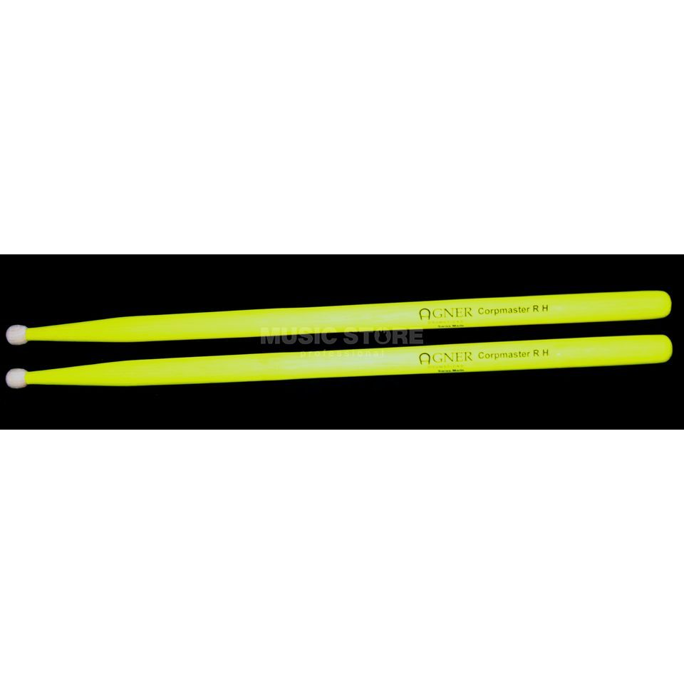 Agner UV-Marching Sticks, 4A, Corpmaster R H, Yellow Produktbillede