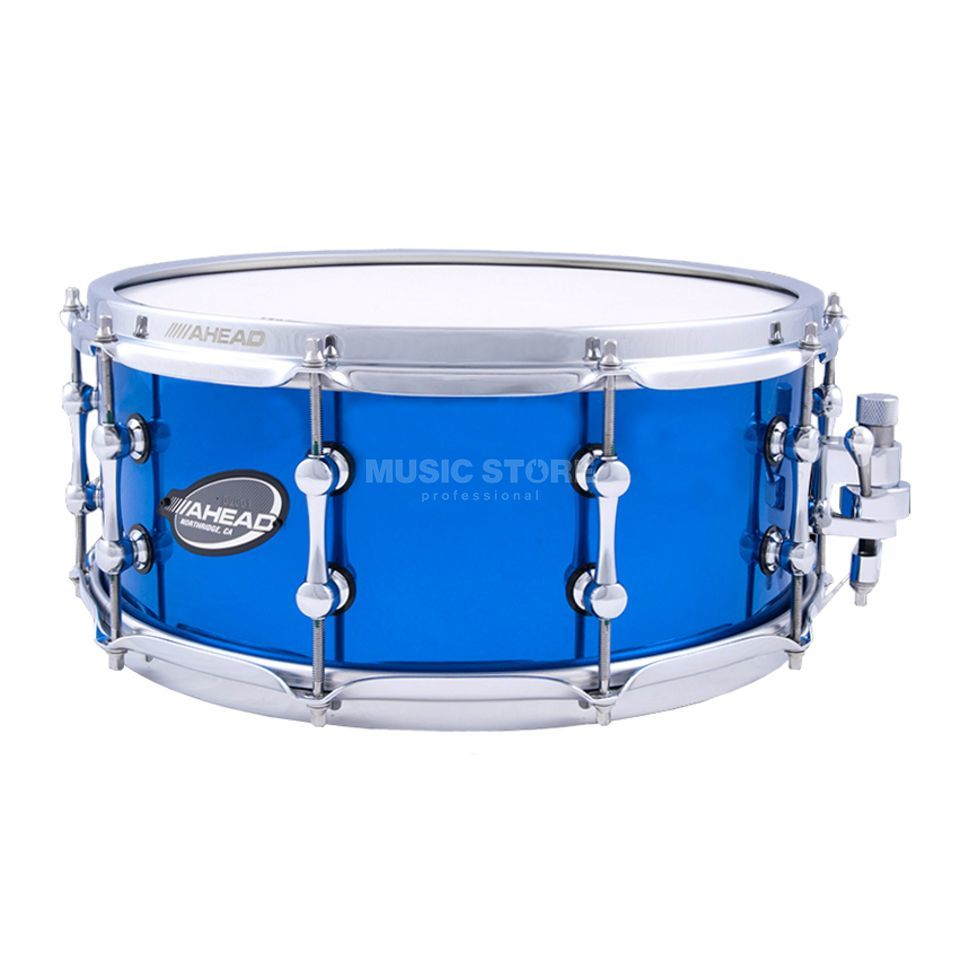 "Ahead Sticks AS614CB Snare 14""x6"" Chrome Blue Brass B-Stock Produktbillede"