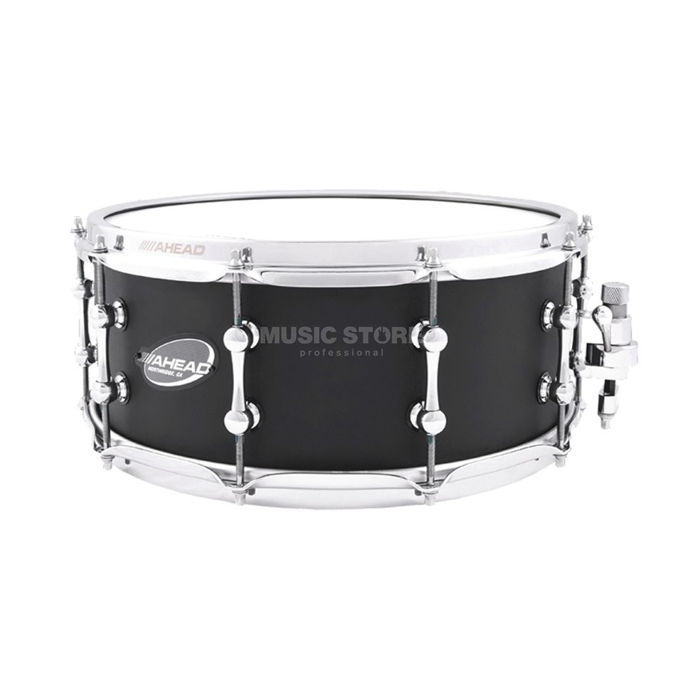 "Ahead Sticks AS614FB Snare 14""x6"", Flat Black on Brass, B-Stock Produktbild"