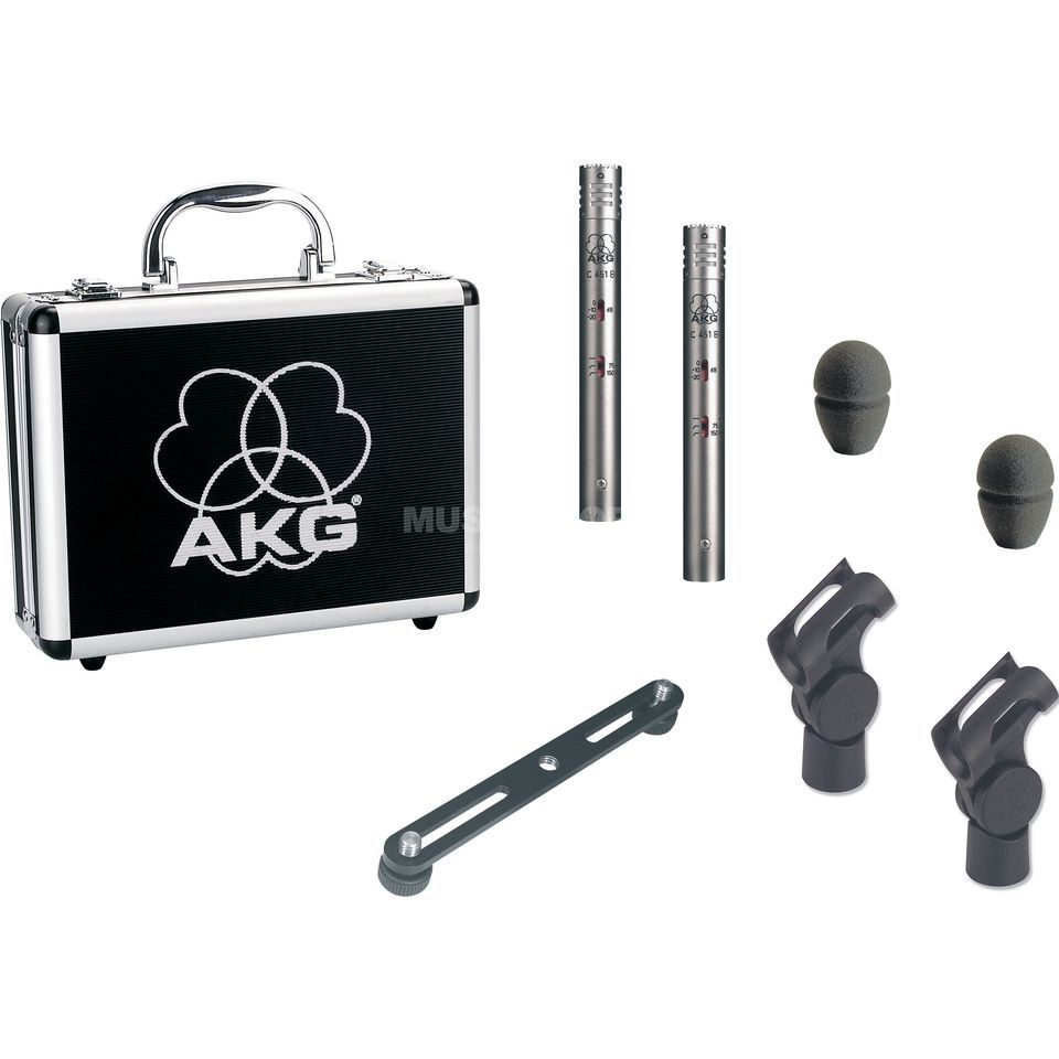 AKG C 451B Stereo-Set matched, incl. Stereo Holder Produktbillede