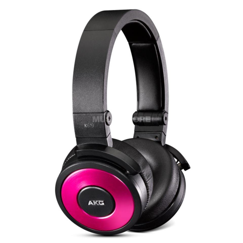 AKG K 619 PNK DJ Earphones, closed, pink Product Image
