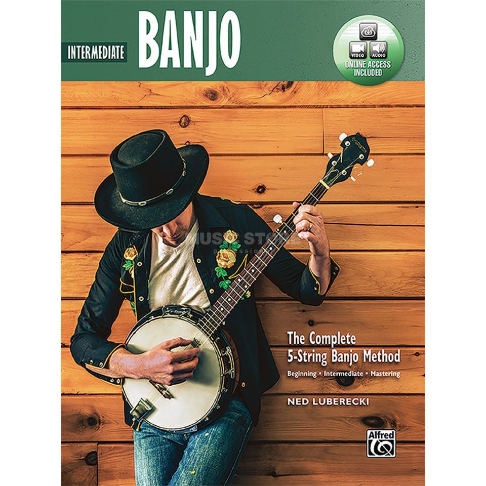 Alfred Music 5-String Banjo Method Intermediate Banjo Imagem do produto