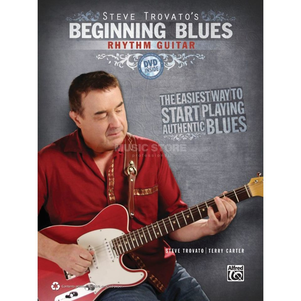 Alfred Music Beginning Blues Rhythm Guitar Steve Trovato incl. DVD Produktbillede
