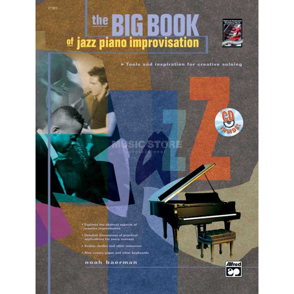 Alfred Music Big Book of Jazz Piano Improv. Noah Baerman incl. CD Produktbillede
