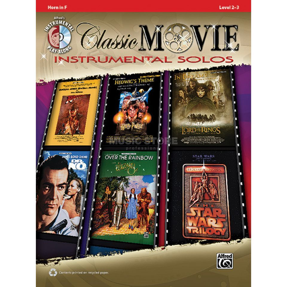Alfred Music Classic Movie - Horn in F Instrumental Solos, Book/CD Produktbillede