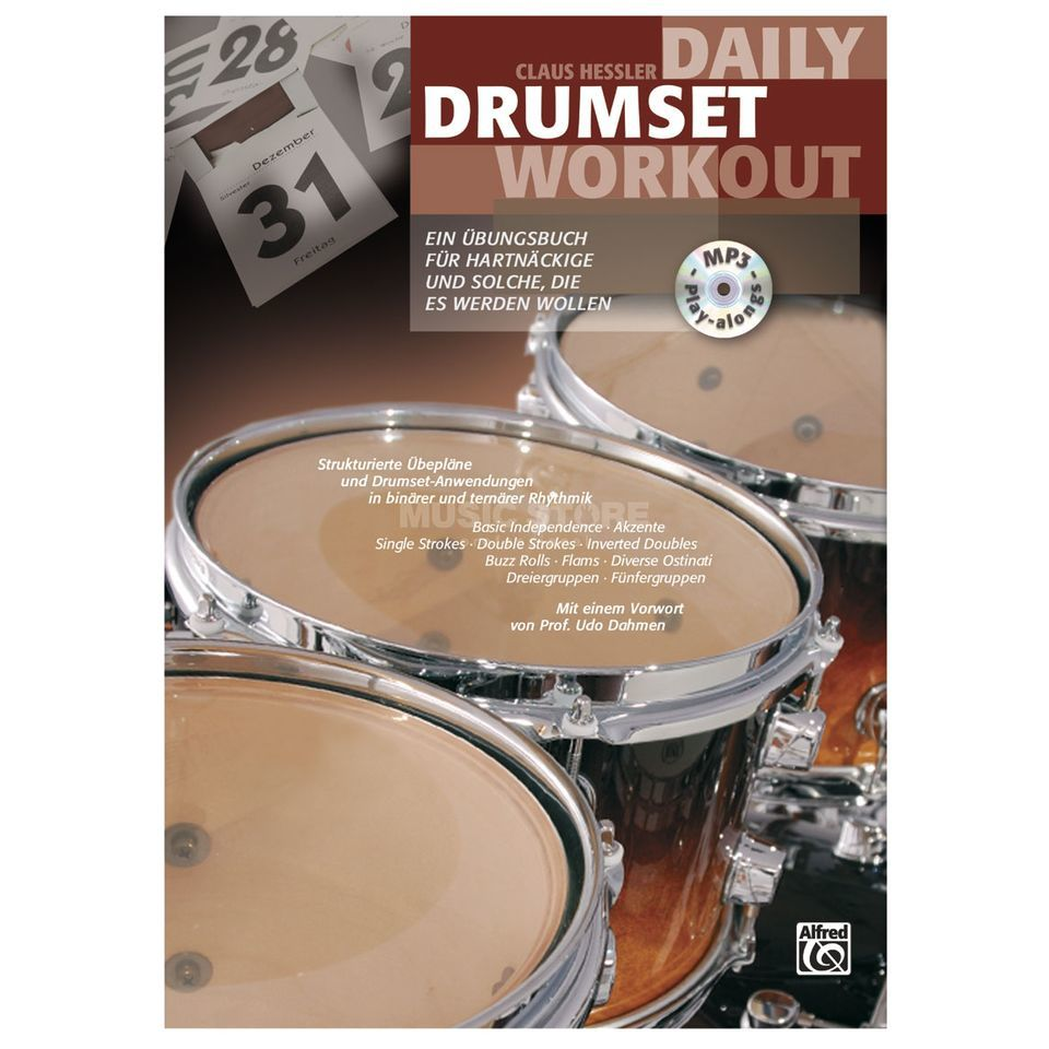 Alfred Music Daily Drumset Workout Hessler inkl. CD Produktbillede