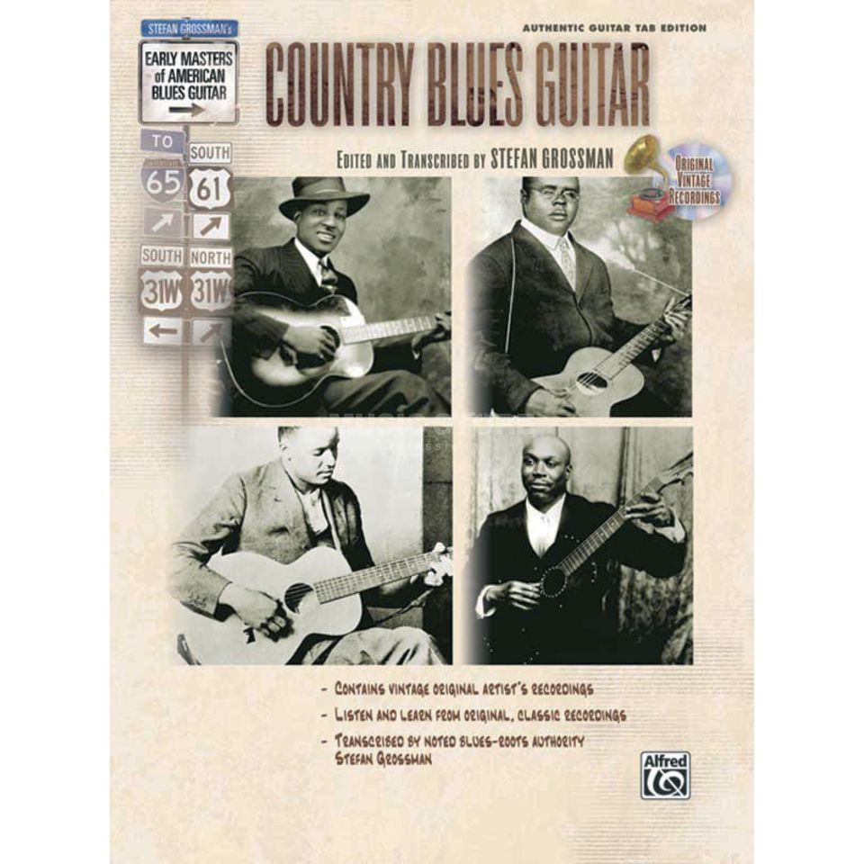Alfred Music Early Masters - Country Blues Grossmann, Book and CD Produktbillede