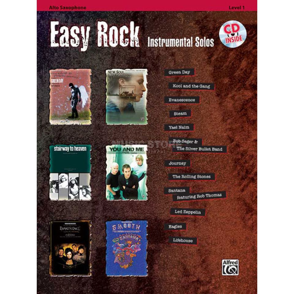 Alfred Music Easy Rock - Alto-Sax Instrumental Solos, Book/CD Produktbillede
