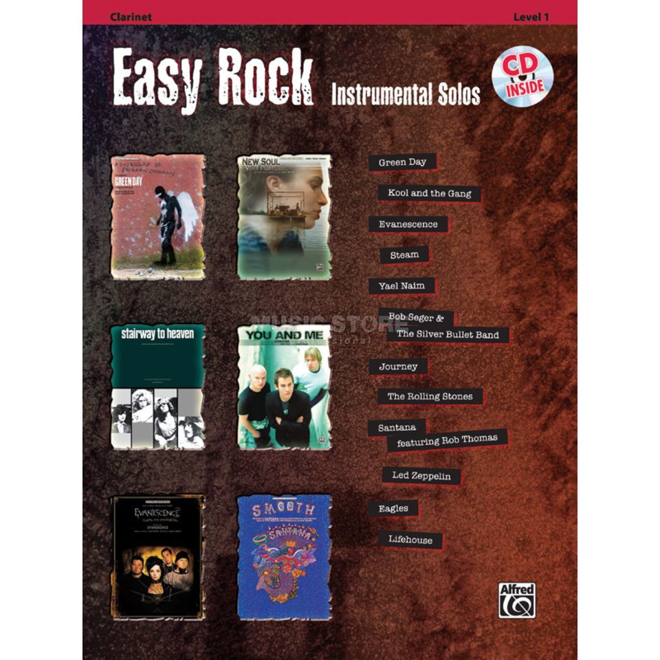 Alfred Music Easy Rock - Klarinette Instrumental Solos, Buch/CD Produktbild