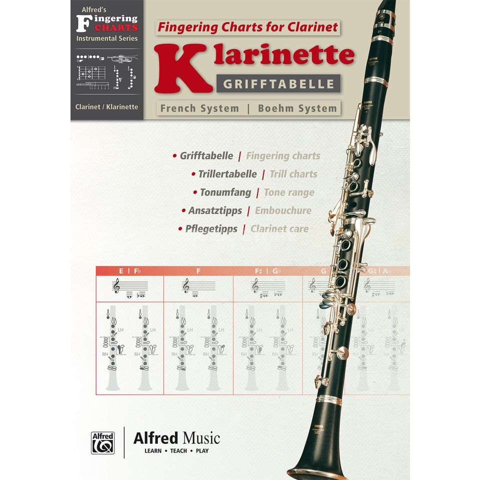 Alfred Music Grifftabelle Klarinette Boehm-System Product Image