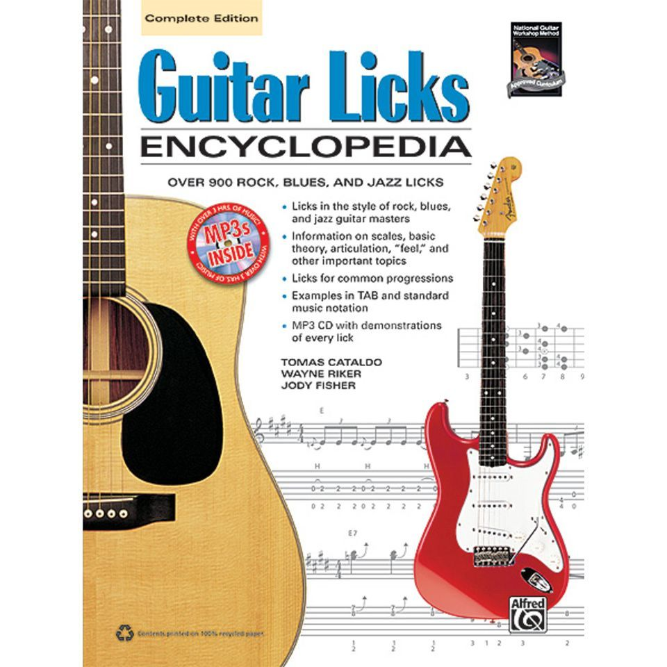 Alfred Music Guitar Licks Encyclopedia Over 900 Rock/Blues/Jazz Licks Produktbild