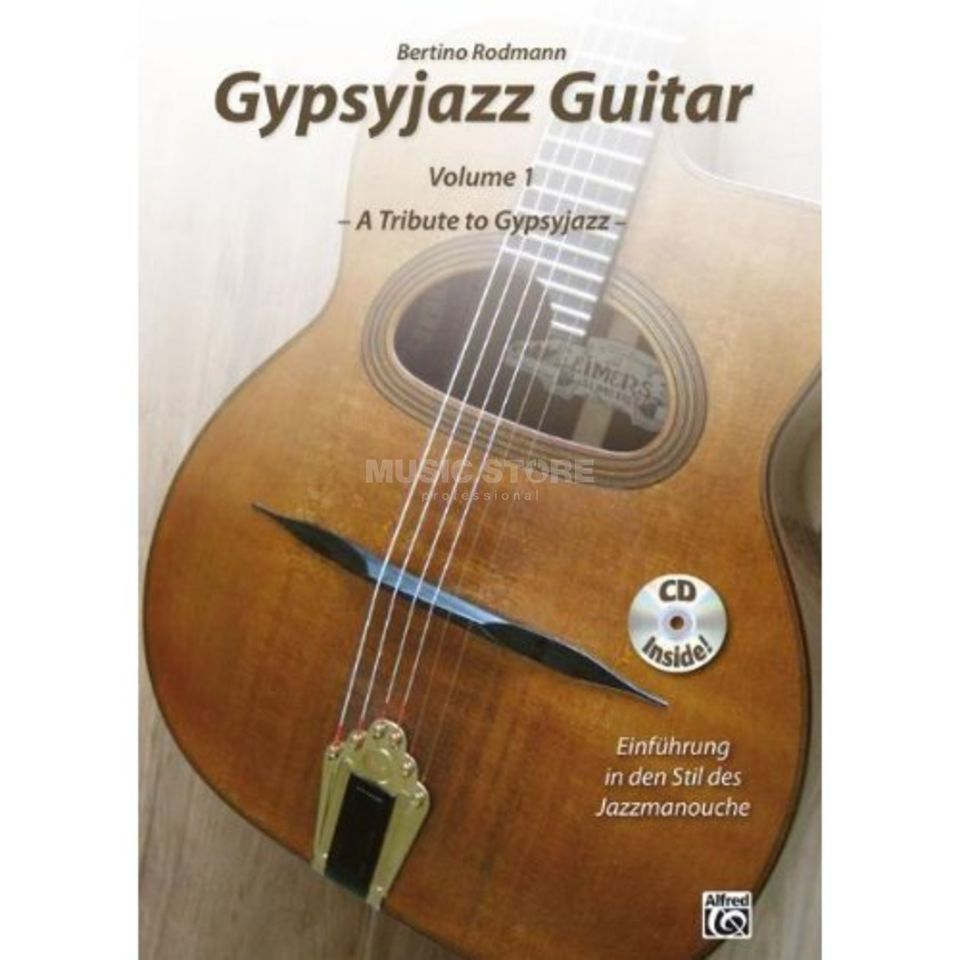 Alfred Music Gypsyjazz Guitar, Volume 1 Bertino Rodmann, Lehrbuch/CD Produktbild