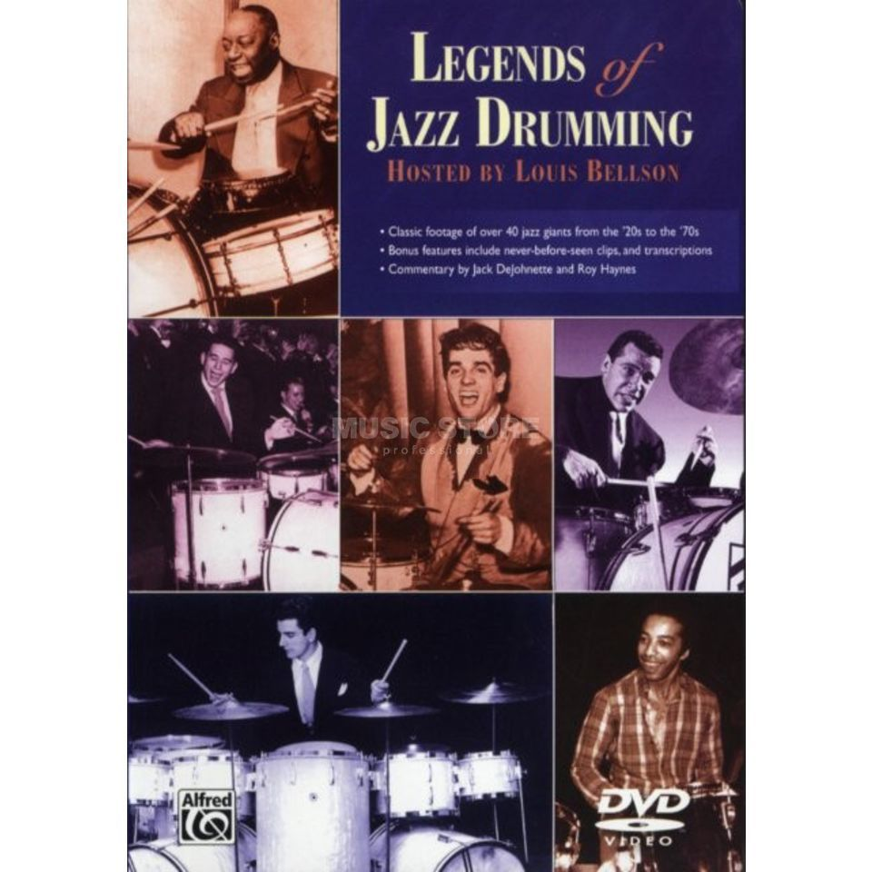 Alfred Music Legends of Jazz Drumming DVD, Paul Motian und andere Produktbillede