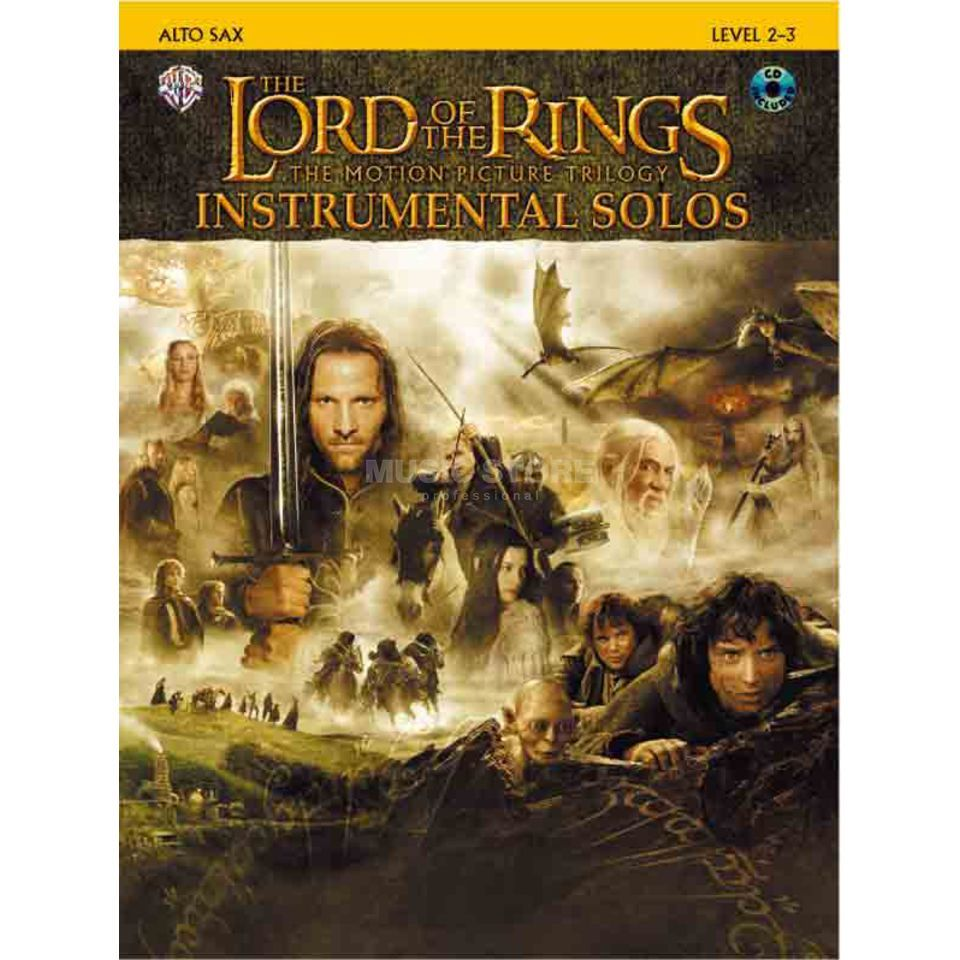 Alfred Music Lord of the Rings - Alto-Sax Instrumental Solos, Book/CD Produktbillede