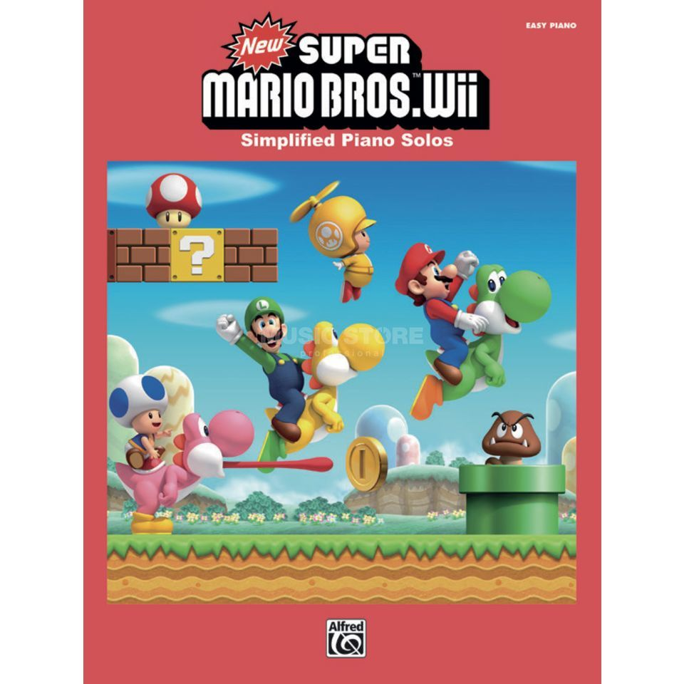 Alfred Music New Super Mario Bros. Wii Easy Piano Produktbild