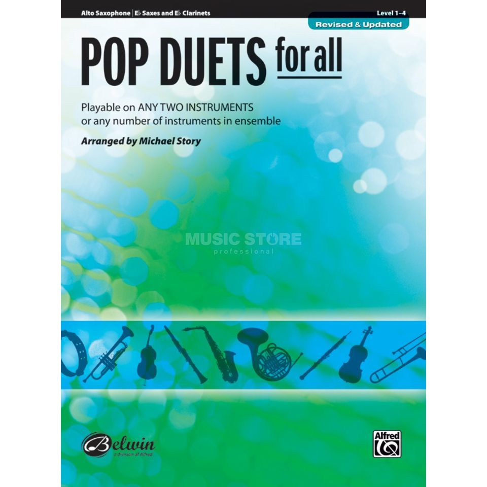 Alfred Music Pop Duets for All - Alt-Sax Mixed Ensemble Produktbild
