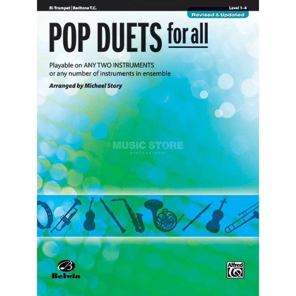 Alfred Music Pop Duets for All - Trompete Mixed Ensemble Produktbild