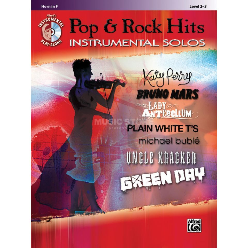 Alfred Music Pop & Rock Hits - Horn Instrumental Solos, Book/CD Produktbillede