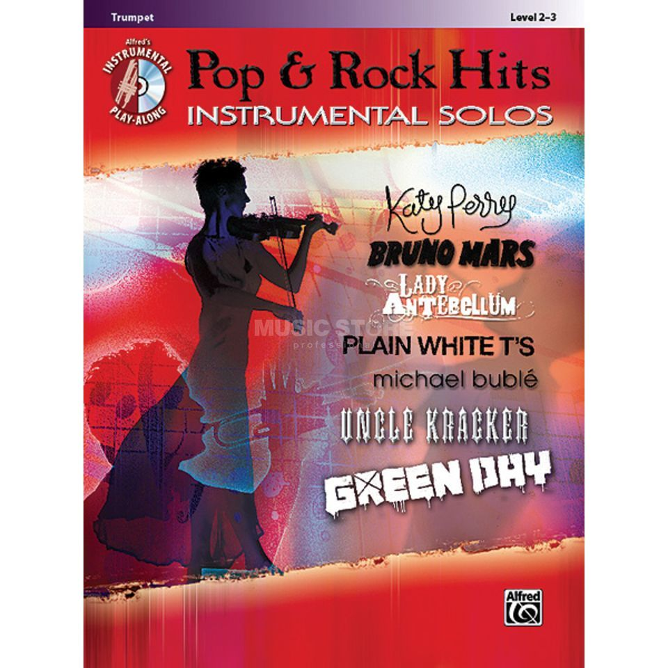 Alfred Music Pop & Rock Hits - Trumpet Instrumental Solos, Book/CD Produktbillede