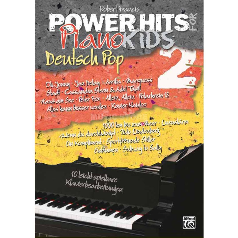 Alfred Music Power Hits for Piano Kids Deutsch Pop Band 2 Produktbillede