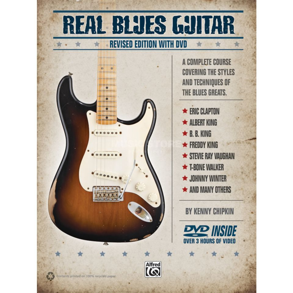 Alfred Music Real Blues Guitar Chipkin, Book and CD Изображение товара