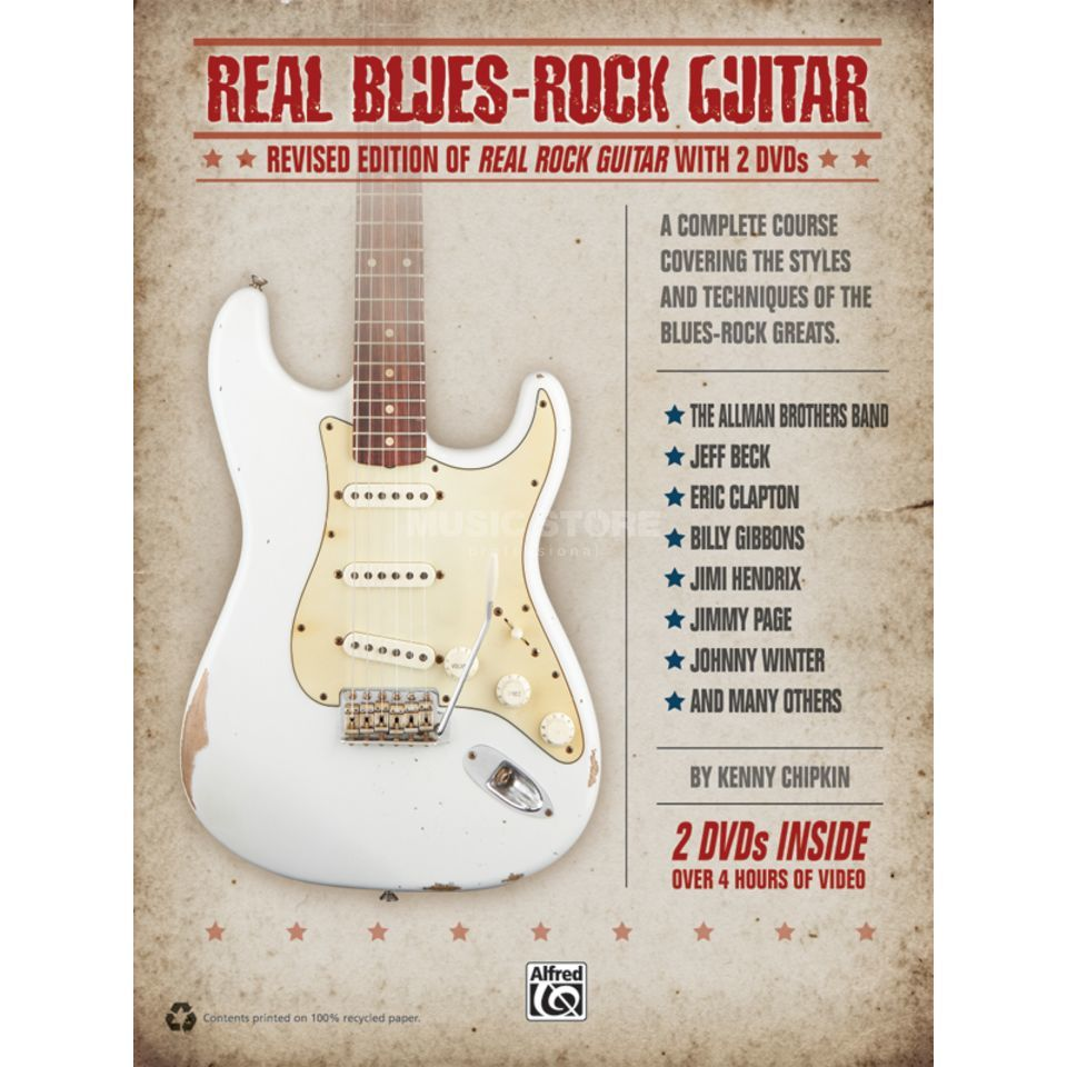 Alfred Music Real Blues Rock Guitar Chipkin, Lehrbuch und 2 DVDs Produktbild