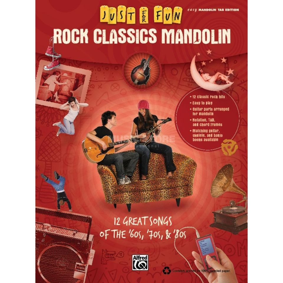 Alfred Music Rock Classics - Mandoline Just for Fun Produktbillede