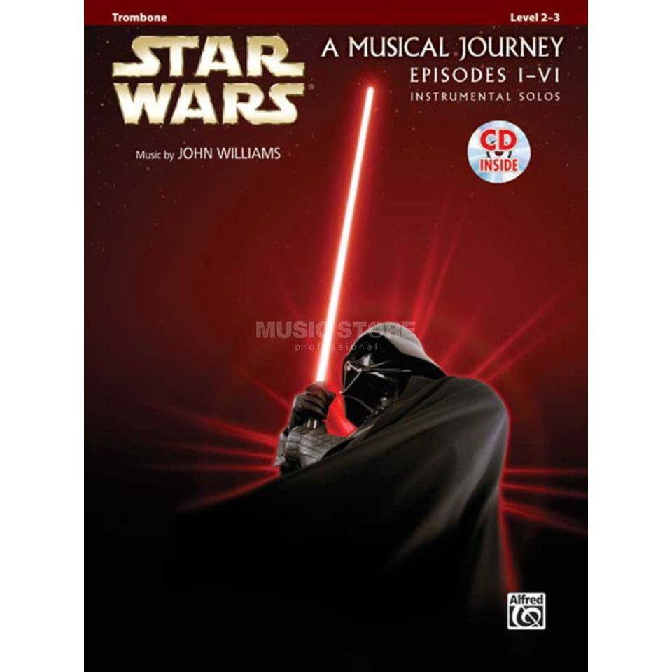 Alfred Music Star Wars 1-6 - Trombone Instrumental Solos, Book/CD Produktbillede