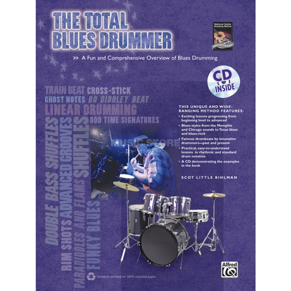 Alfred Music The Total Blues Drummer Bihlman, Buch und CD Produktbild