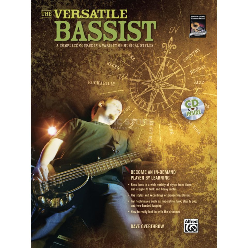 Alfred Music The Versatile Bassist Book and CD Produktbillede