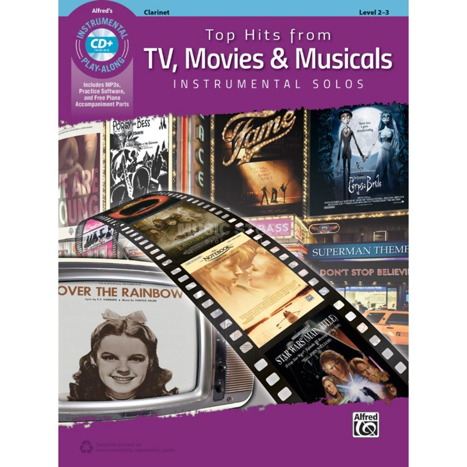 Alfred Music Top Hits from TV, Movies & Musicals – Clarinet Product Image