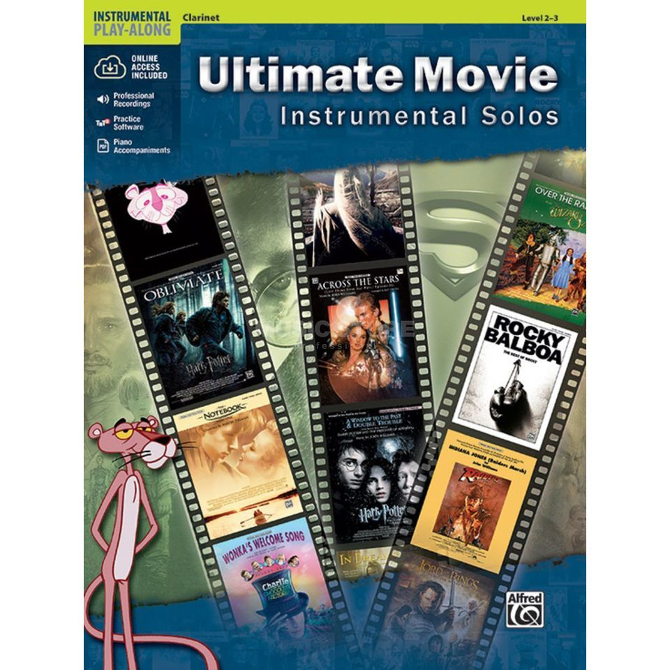 Alfred Music Ultimate Movie - Clarinet Instrumental Solos, Book/CD Produktbillede