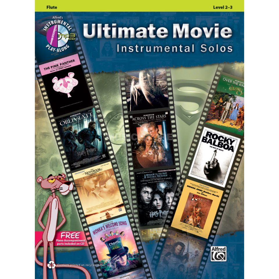 Alfred Music Ultimate Movie - Flute Instrumental Solos, Book/CD Produktbillede