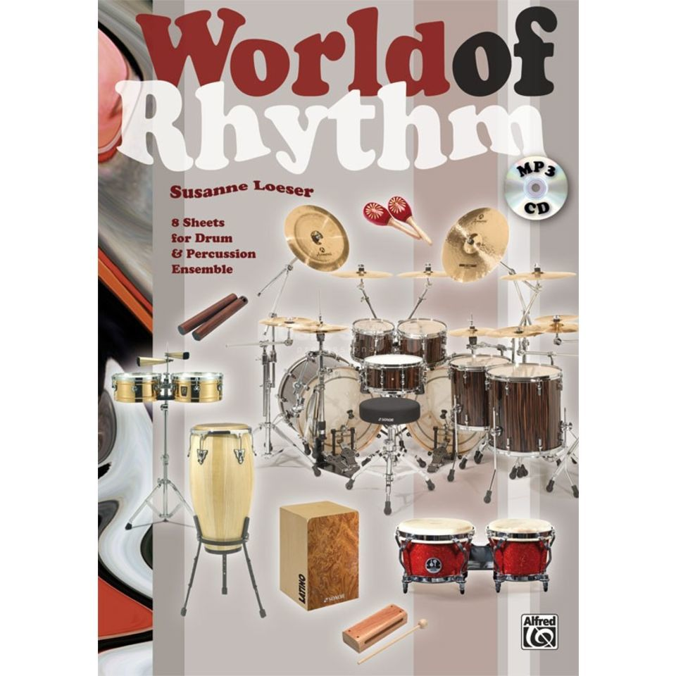 Alfred Music World of Rhythm Susanne Loeser, Buch/MP3-CD Produktbild