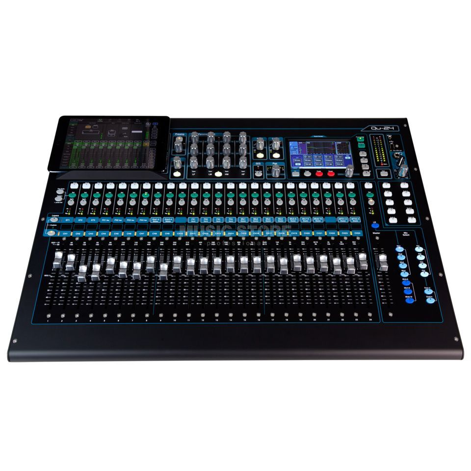 Allen & Heath QU 24 Chrome Edition 30 In, 24 Out Produktbild