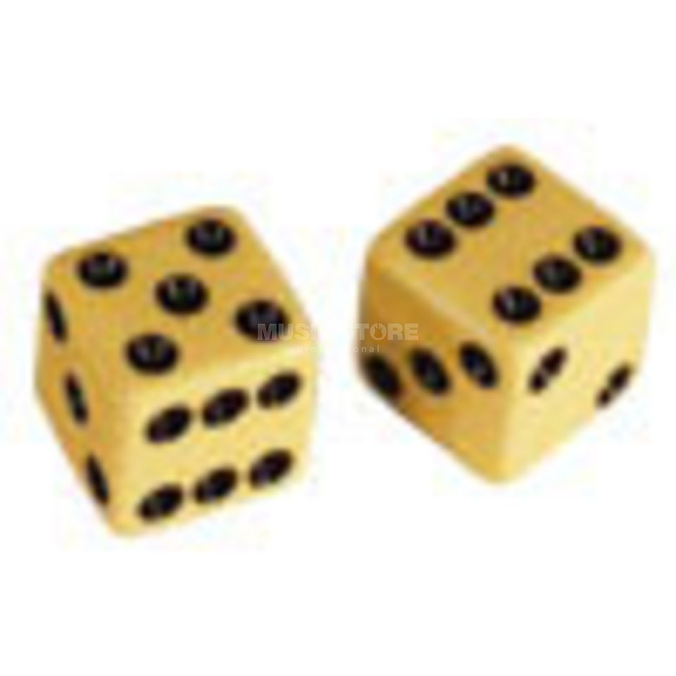 "Allparts Poti Knobs ""Dice"" Set of 2 Cream Produktbild"