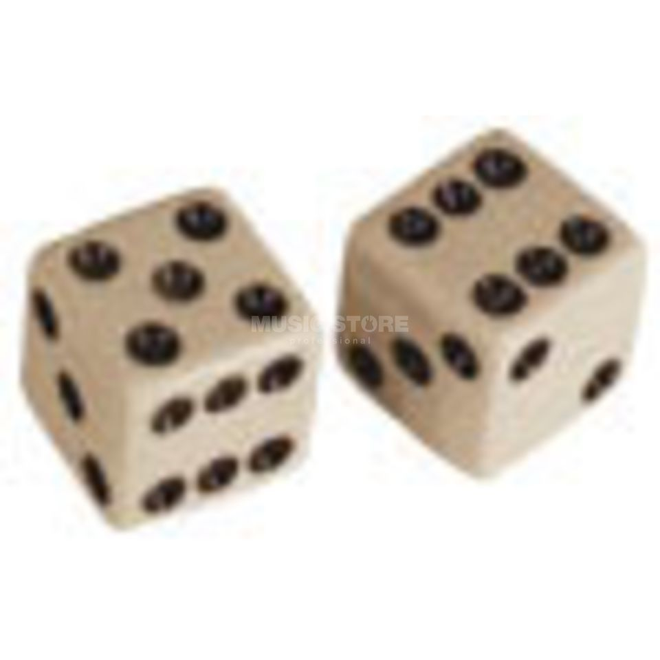"Allparts Poti Knobs ""Dice"" Set of 2 White Produktbild"