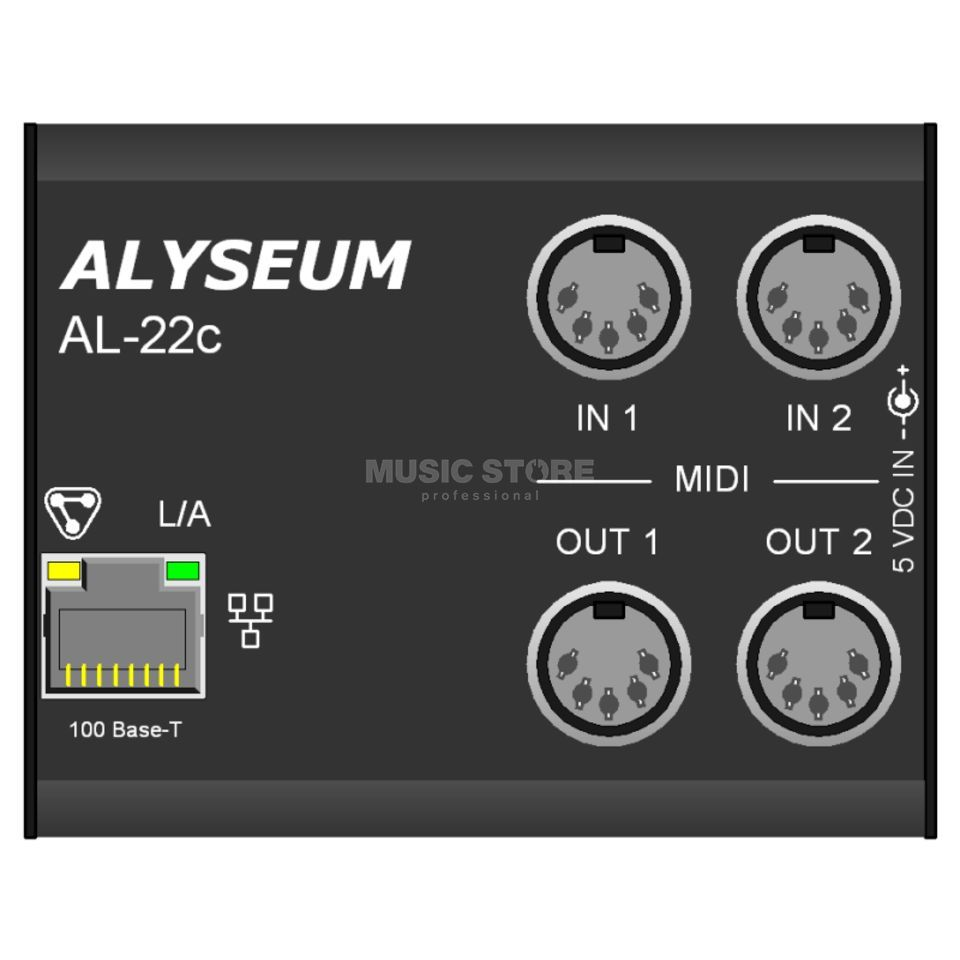 Alyseum AL-22c MIDI Ethernet Patchbay 2x2   DV247   GB