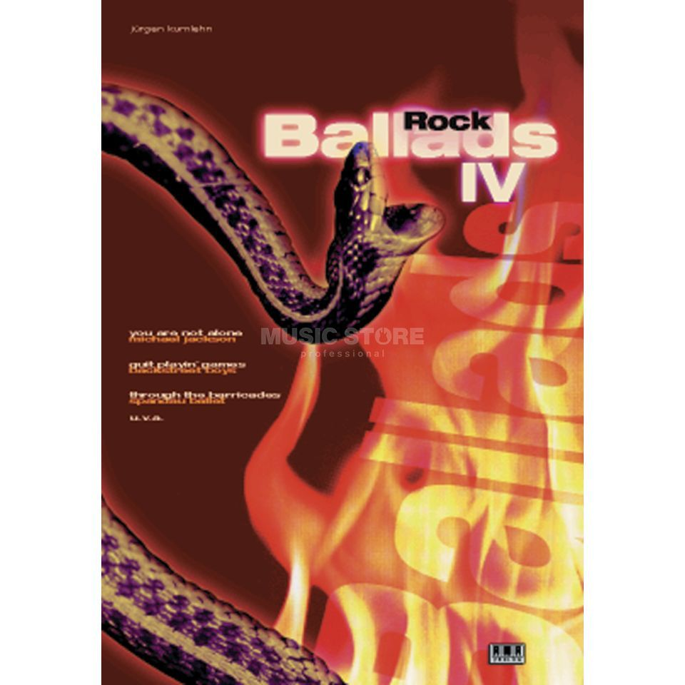 AMA Verlag Rock Ballads Band 4 Song Book-Series Produktbillede