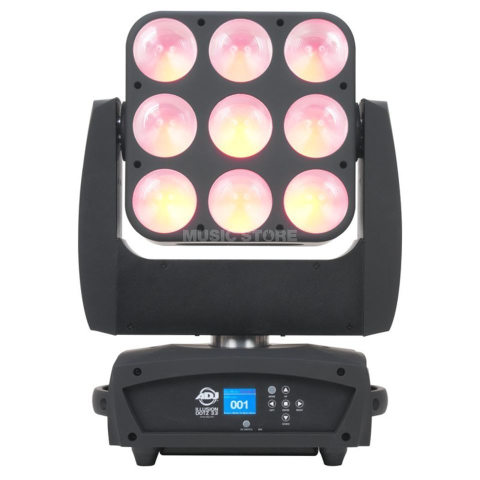 American DJ Illusion Dotz 3.3, Moving Head 9 x 30 Watt TRI RGB COB LED Produktbillede