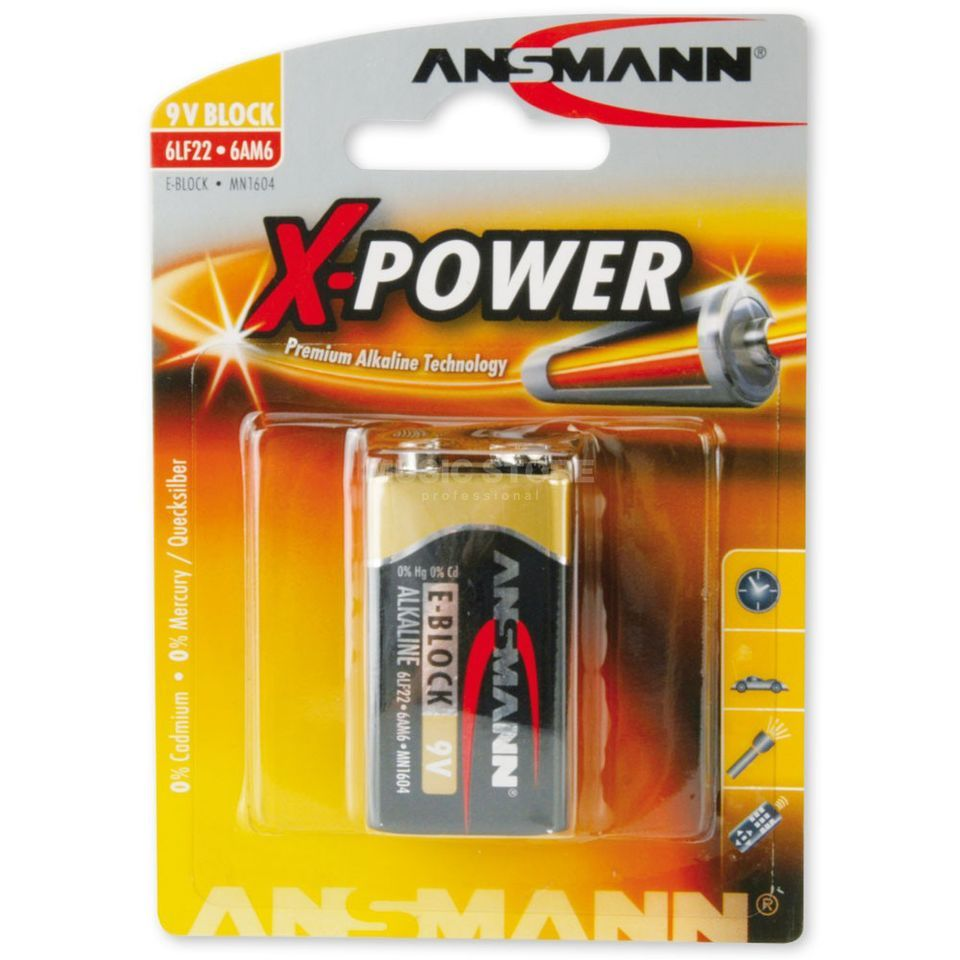 Ansmann 9V-Block X-Power Produktbild