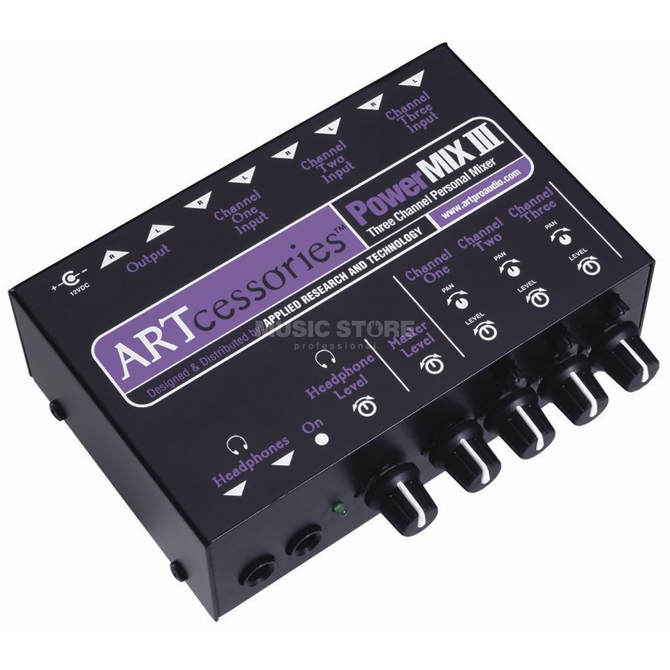 ART Applied Research & Technology PowerMIX III Kompakter 3-Kanal-Stereomixer Produktbild
